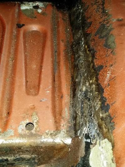 left tunnel weld