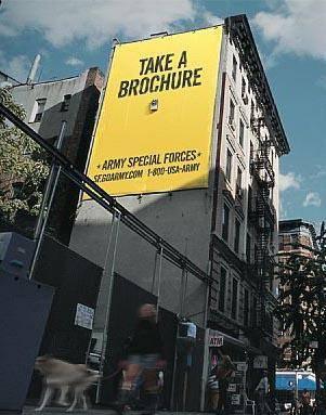 Billboard - Army Take a Brochure