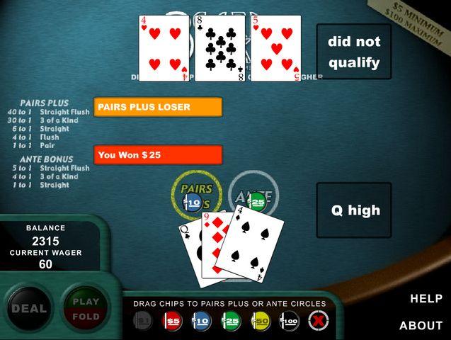3 card poker hand rankings.