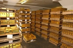 Gold Bars in the Federal Reserve Bank