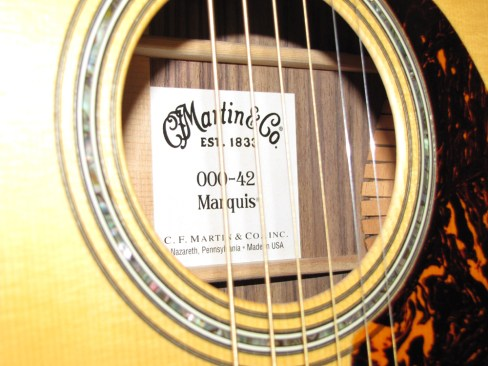 Martin 000-42 Marquis One Man's Guitar onemanz.com label readers photos readers photos