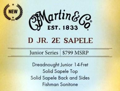 Martin D Jr 2 Sapele label
