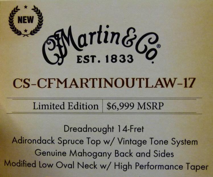 Use CS-CFMartin Outlaw-17 NAMM Label