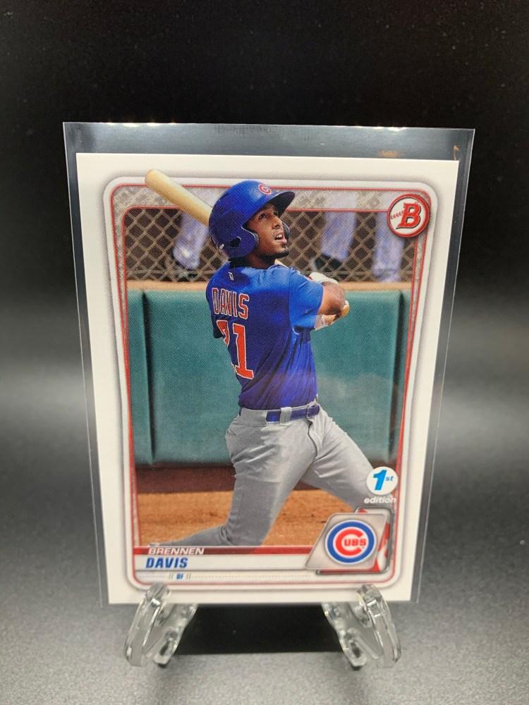 2020 Bowman Draft 1st Edition Brennen Davis Chicago Cubs baseball card