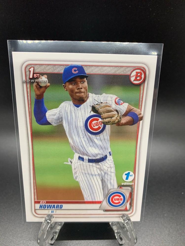 2020 Bowman Draft 1st Edition Ed Howard Chicago Cubs baseball card