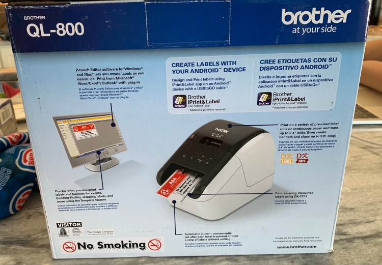 Brother QL 800 label printer and Harry Caray Cubs memorabilia for Christmas