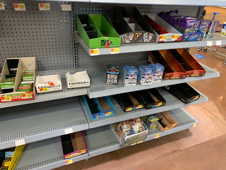 Hard to find baseball, football, and basketball cards at Wal-Mart and Target