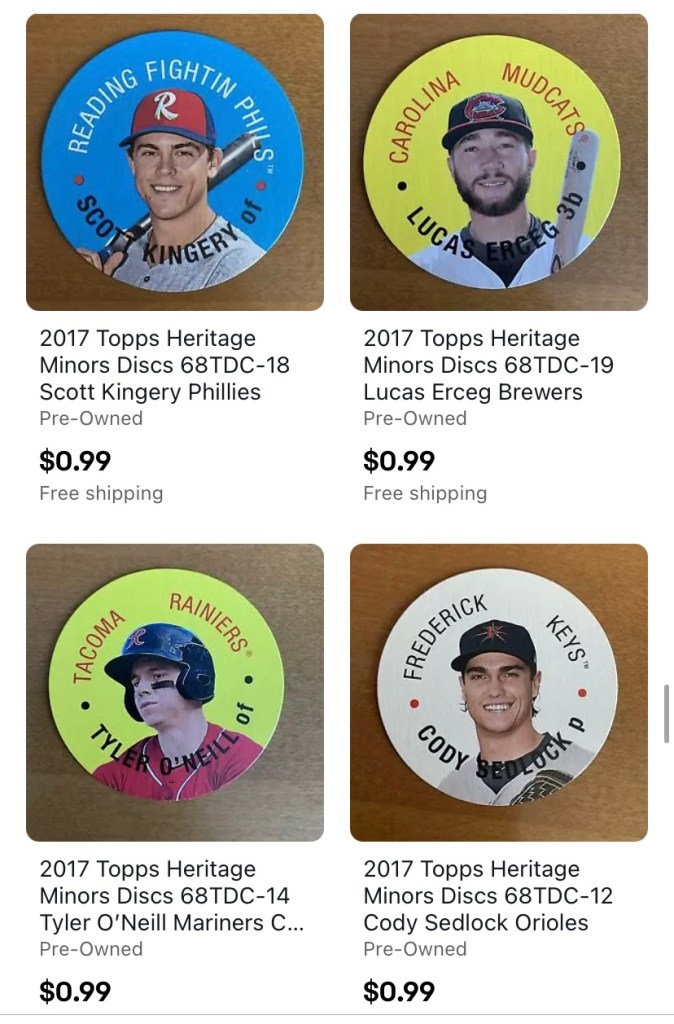 Cheap baseball card prices in the One Million Cubs Project ebay store.