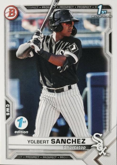 2021 Bowman Yolbert Sanchez Chicago White Sox