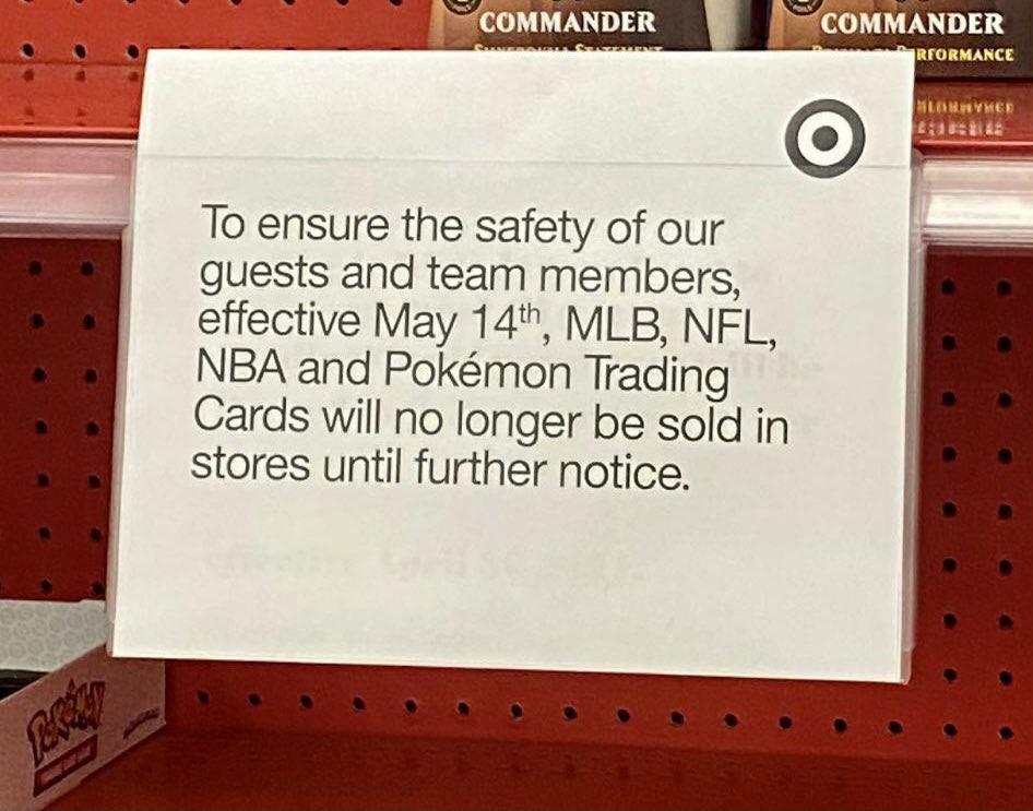 Target Pauses Sports Card Sales