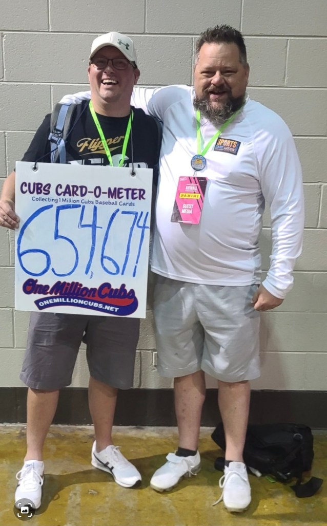 Beau Thompson from the One Million Cubs Project and John Newman from the Sportscard Nation Podcast at the 2021 National Sports Collectors Convention