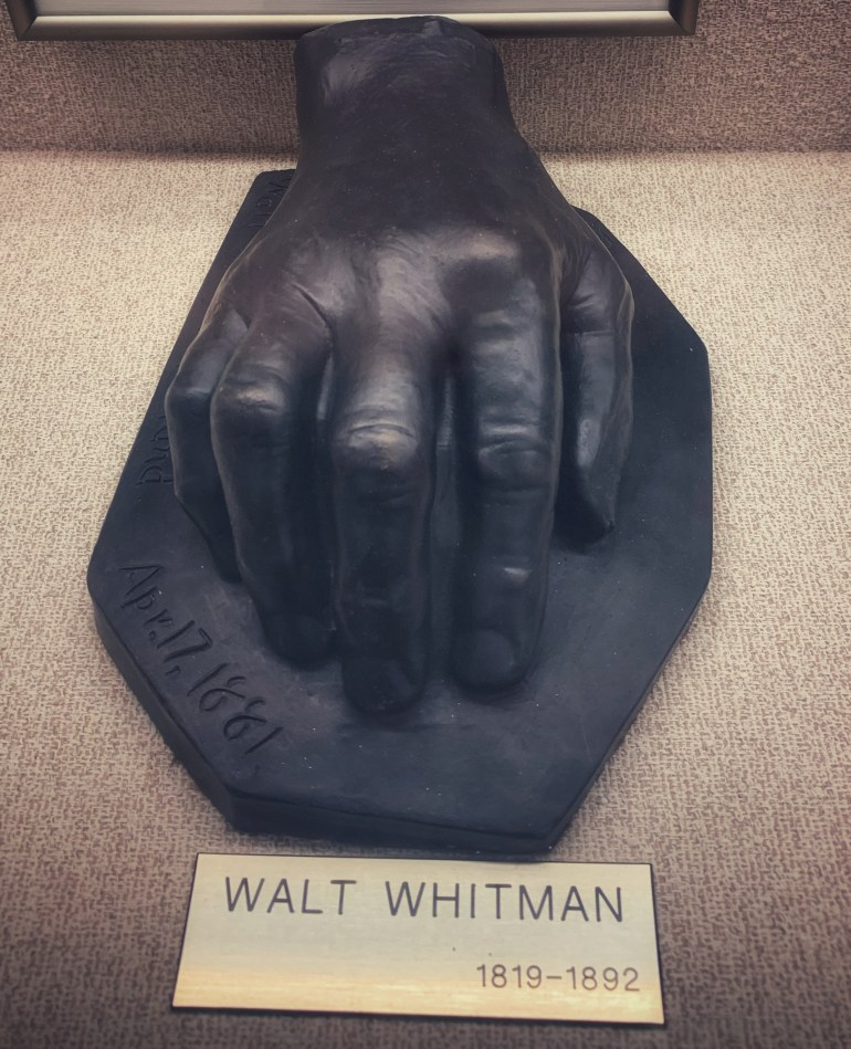 Walt Whitman:  The Hand Collection at Baylor Medical Center in Dallas, Texas