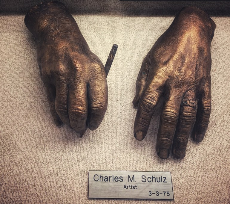Charles M. Schultz, Artist:  The Hand Collection at Baylor Medical Center in Dallas, Texas