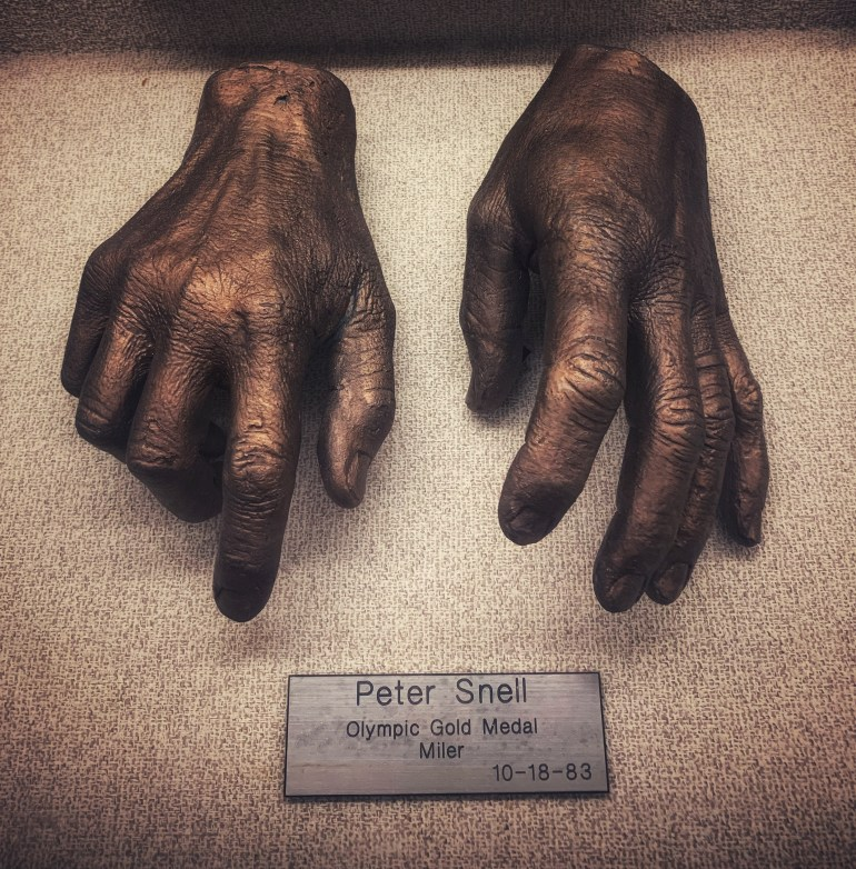 Peter Snell, Olympic Gold Medal Miler:  The Hand Collection at Baylor Medical Center in Dallas, Texas