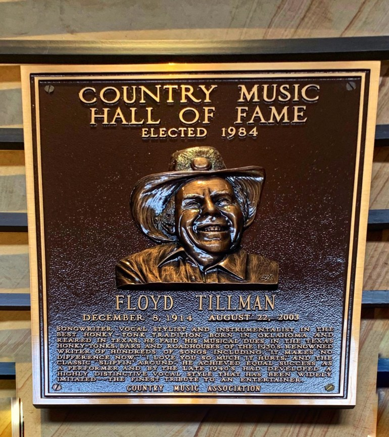 Floyd Tillman at the Country Music Hall of Fame in Nashville, Tennessee
