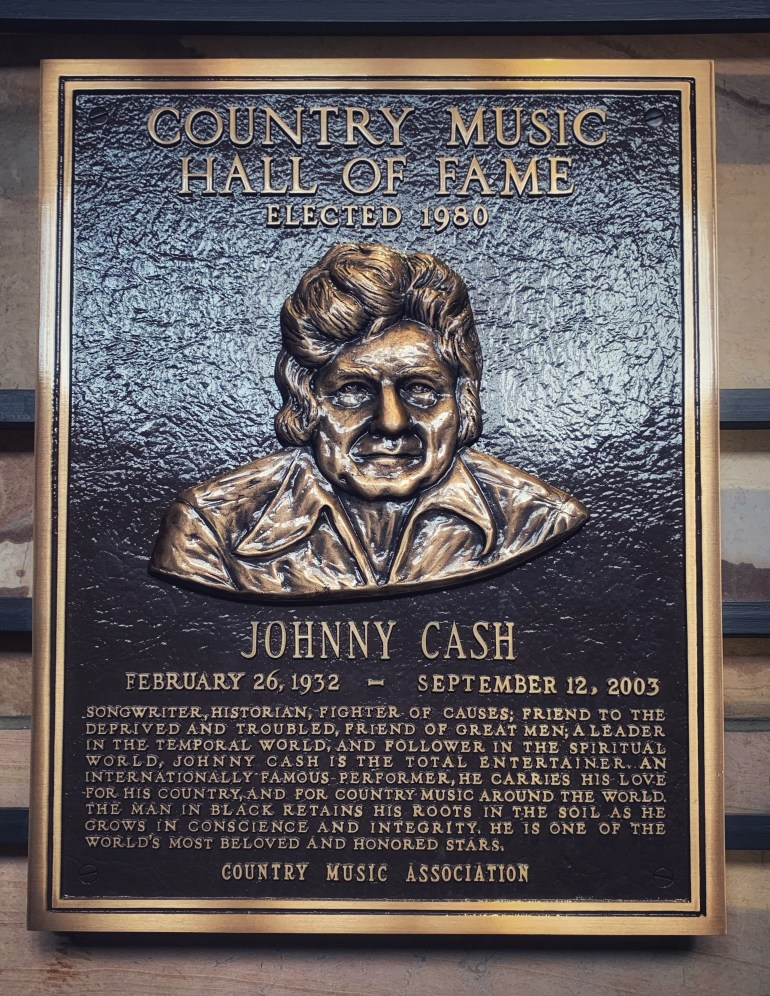 Johnny Cash at the Country Music Hall of Fame in Nashville, Tennessee