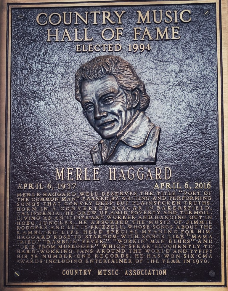 Merle Haggard at the Country Music Hall of Fame in Nashville, Tennessee