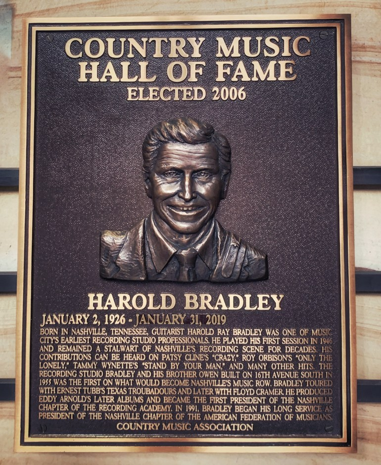 Harold Bradley at the Country Music Hall of Fame in Nashville, Tennessee