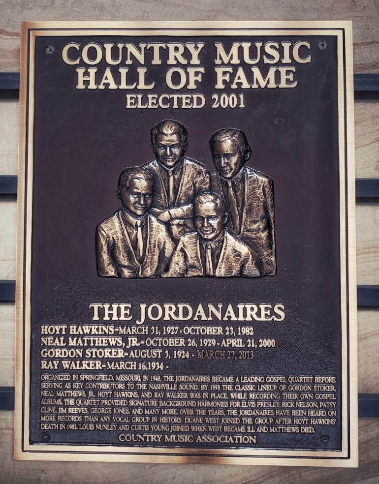 The Jordanaires at the Country Music Hall of Fame in Nashville, Tennessee