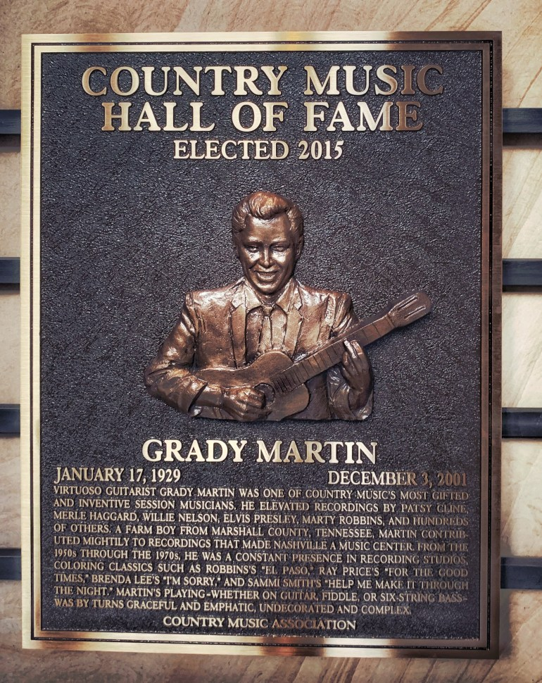 Grady Martin at the Country Music Hall of Fame in Nashville, Tennessee