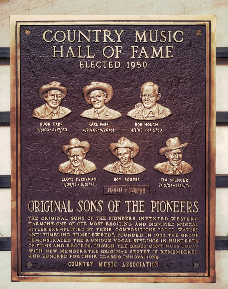 Original Sons of the Pioneers at the Country Music Hall of Fame in Nashville, Tennessee