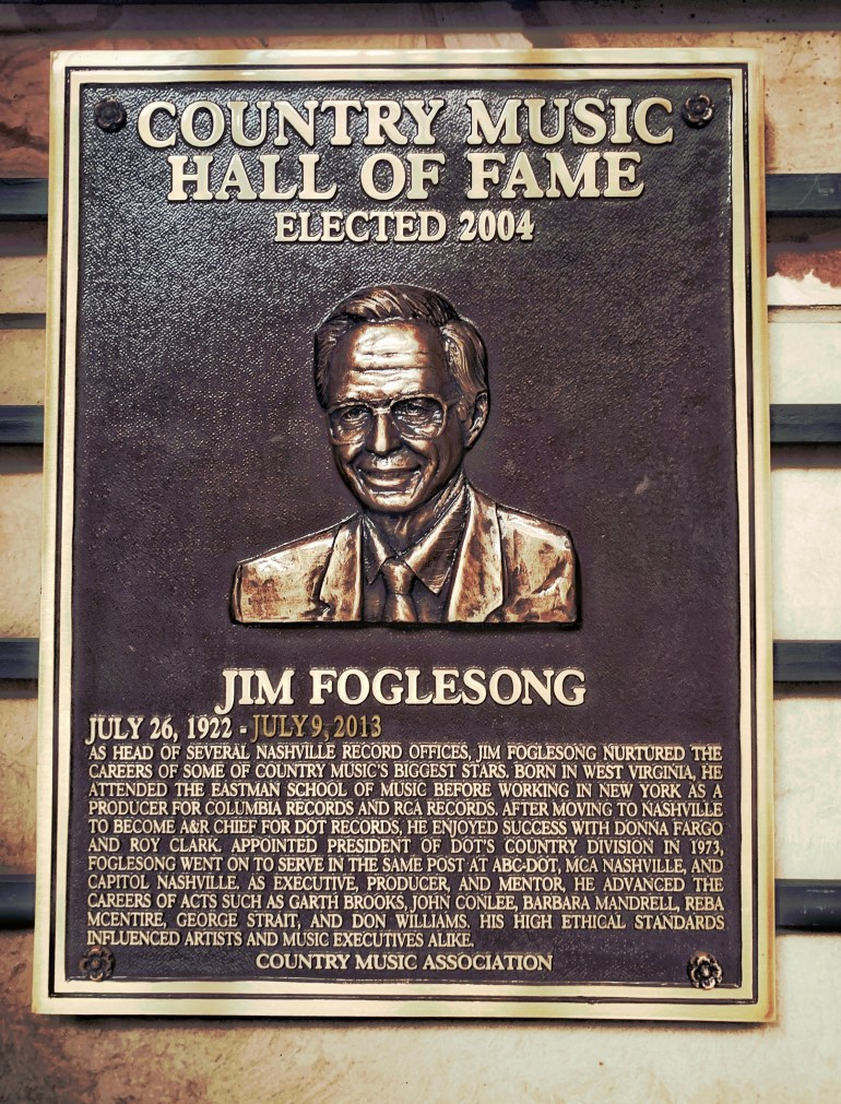 Jim Foglesong at the Country Music Hall of Fame in Nashville, Tennessee