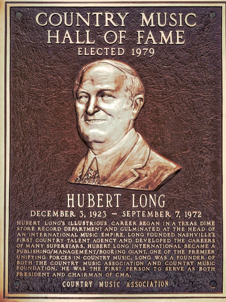 Hubert Long at the Country Music Hall of Fame in Nashville, Tennessee