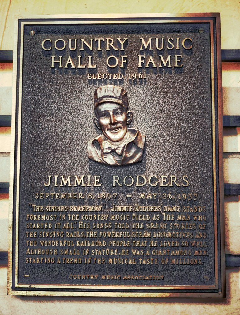 Jimmie Rodgers at the Country Music Hall of Fame in Nashville, Tennessee