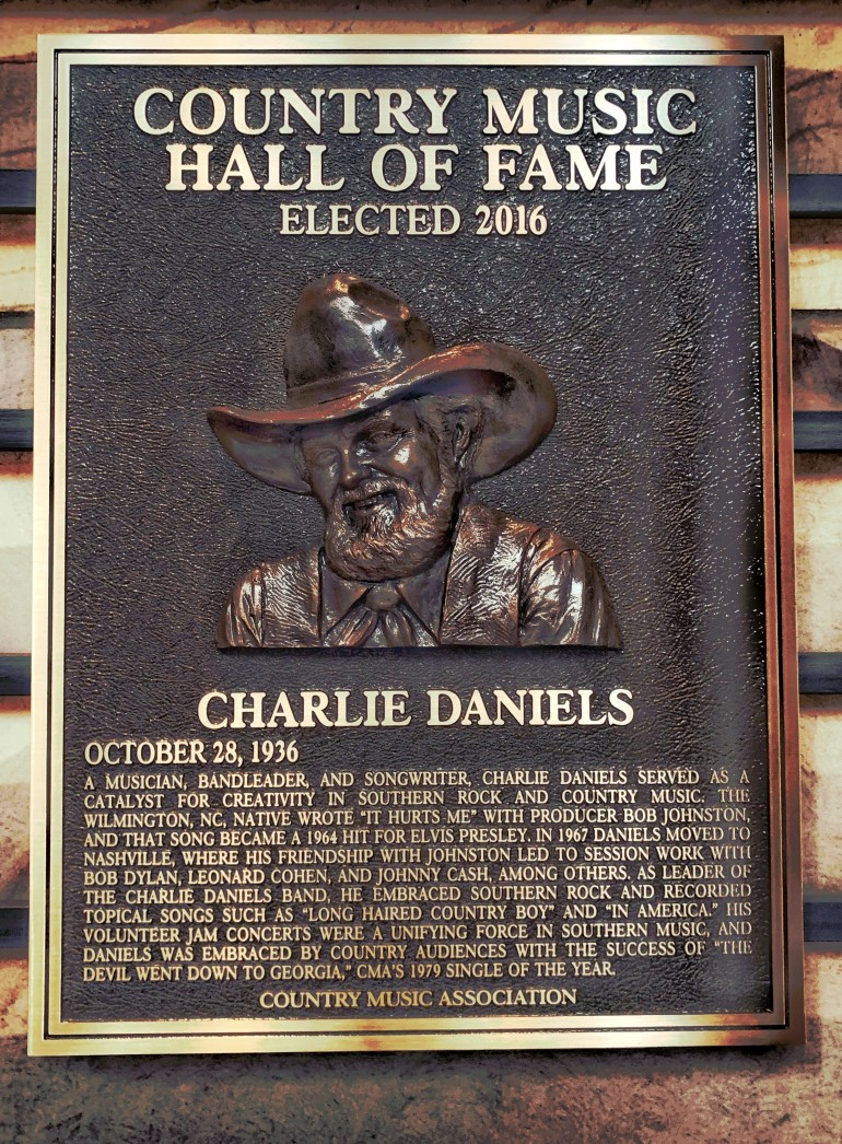 Charlie Daniels at the Country Music Hall of Fame in Nashville, Tennessee