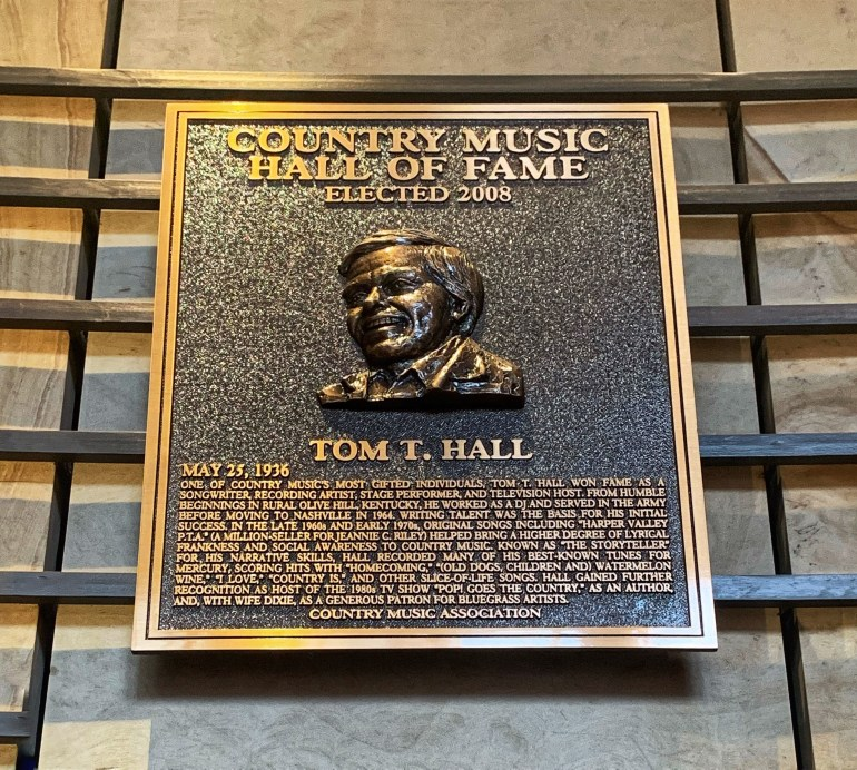Tom T Hall at the Country Music Hall of Fame in Nashville, Tennessee