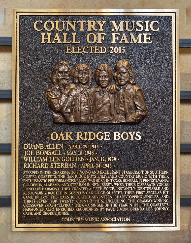 The Oak Ridge Boys at the Country Music Hall of Fame in Nashville, Tennessee