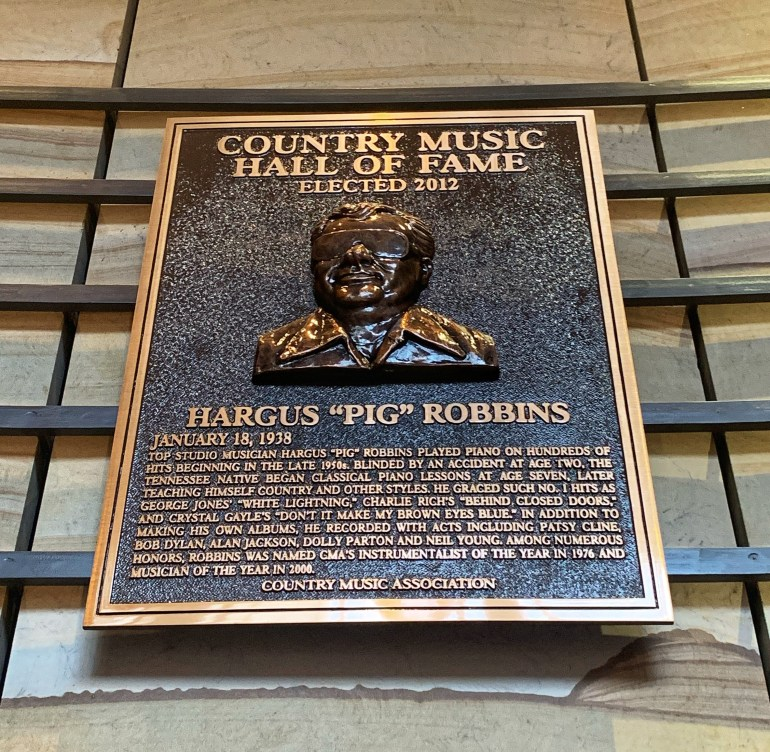 "Hargus ""Pig"" Robbins at the Country Music Hall of Fame and Museum in Nashville, Tennessee"