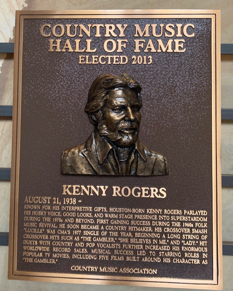 Kenny Rogers at the Country Music Hall of Fame and Museum in Nashville, Tennessee