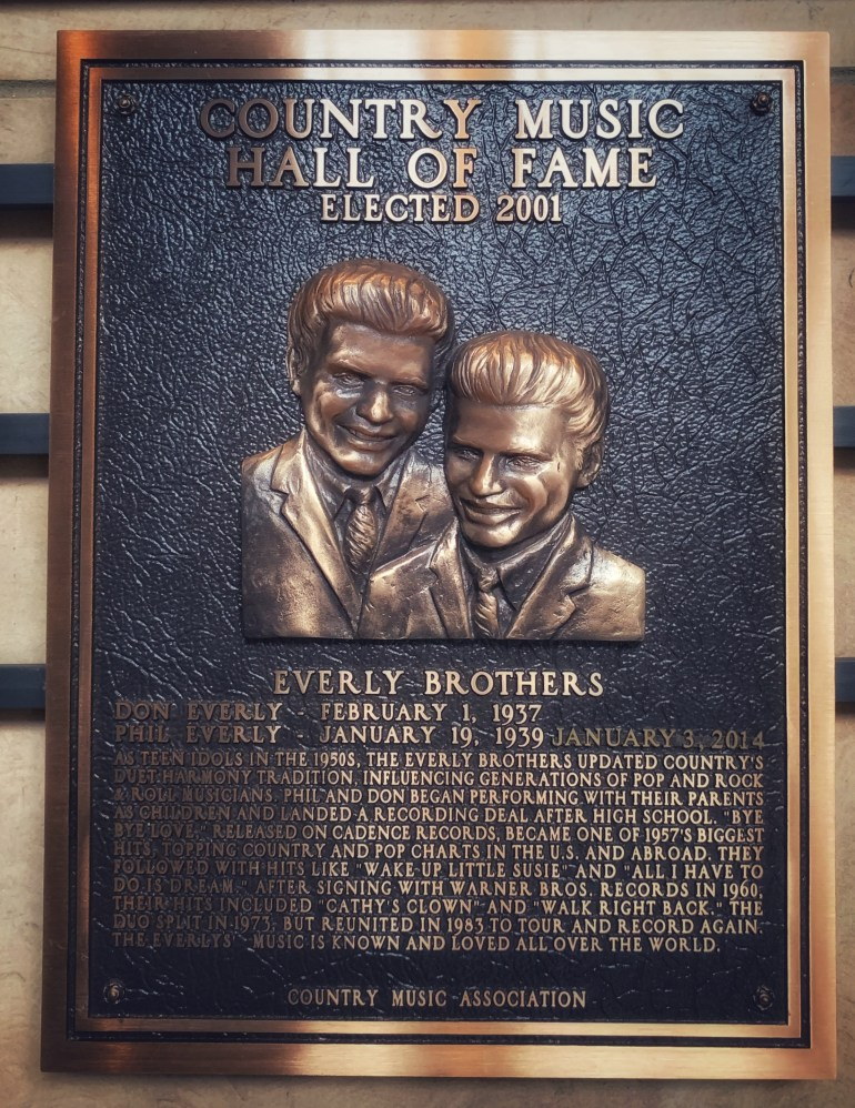 The Everly Brothers at the Country Music Hall of Fame and Museum in Nashville, Tennessee