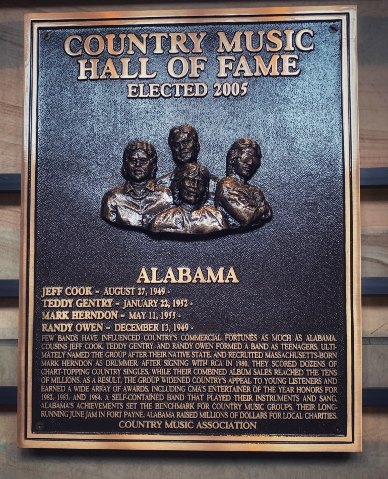 Alabama at the Country Music Hall of Fame in Nashville, Tennessee