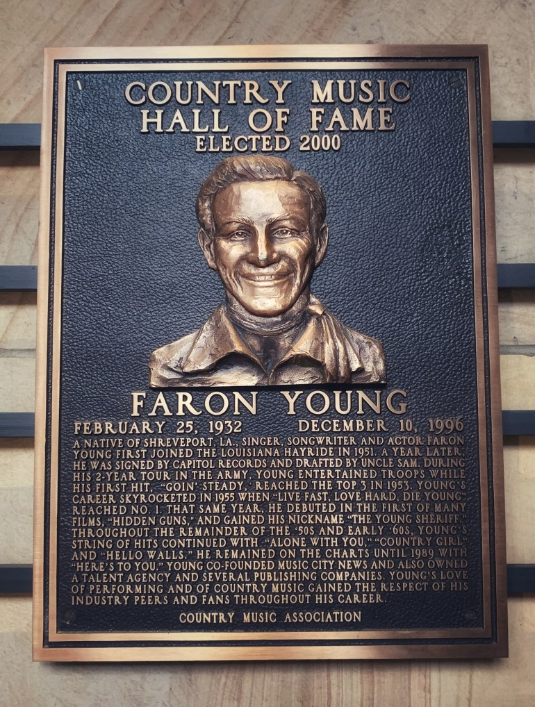 Faron Young at the Country Music Hall of Fame in Nashville, Tennessee