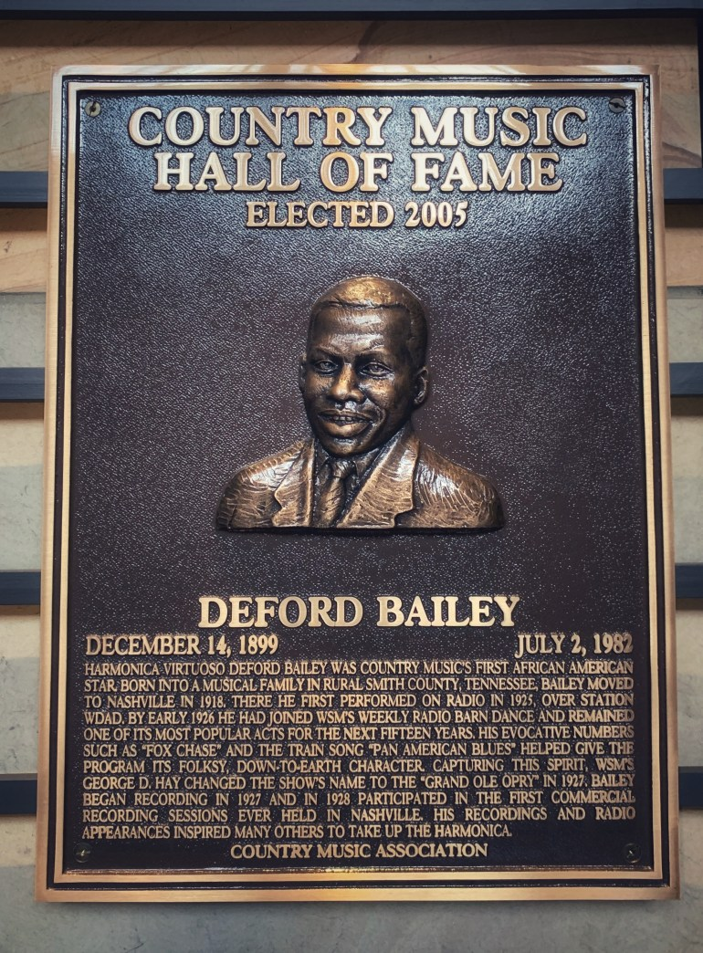 Deford Bailey at the Country Music Hall of Fame in Nashville, Tennessee