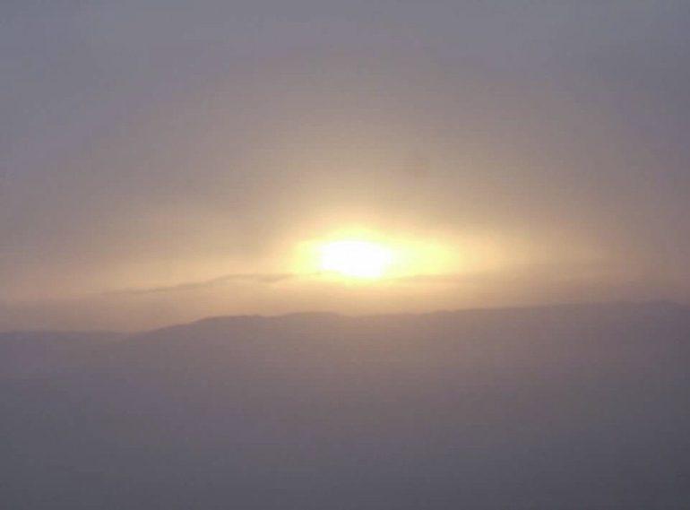 Sunrise from Mount Masada in Israel, Spring 2006