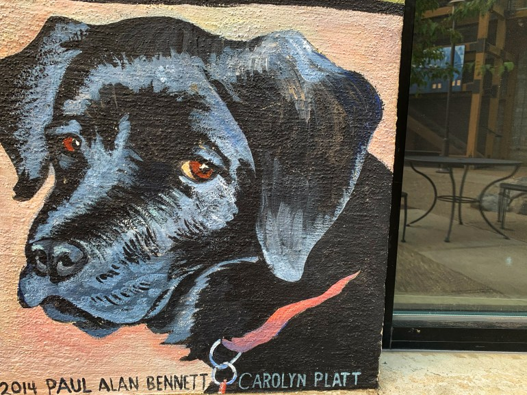 Street Photography: Dog Mural in the Old Mill District of Bend, Oregon