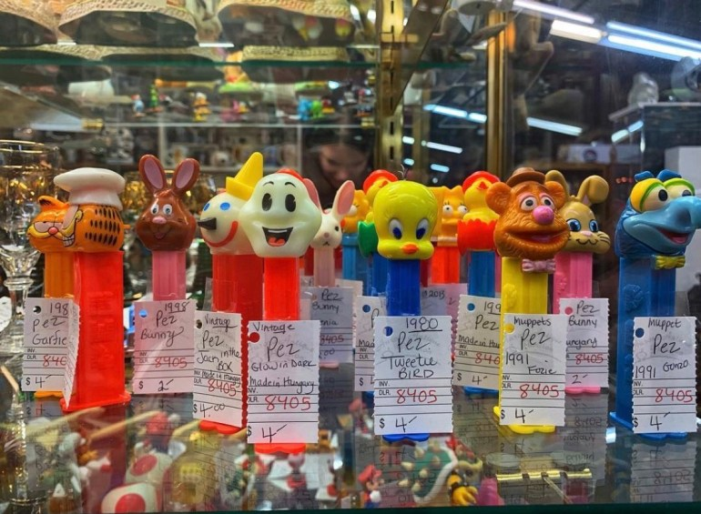 An Army of Pez Dispensers:  An Afternoon of Antiques in Snohomish, Washington
