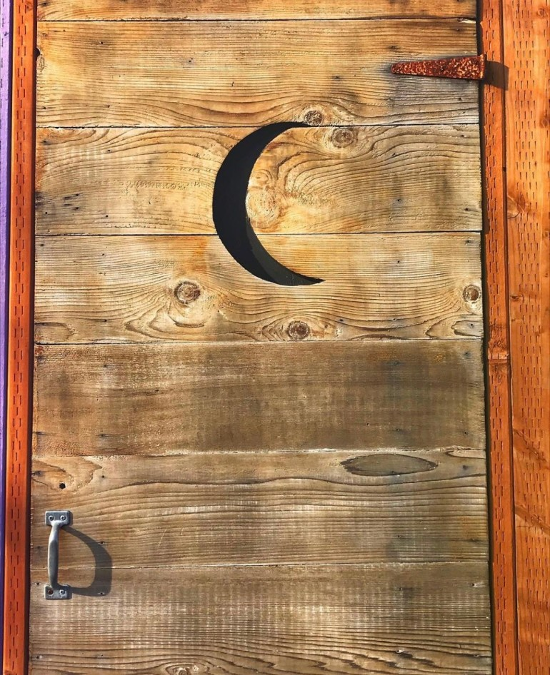 Fence of Doors on Vashon Island in Washington State
