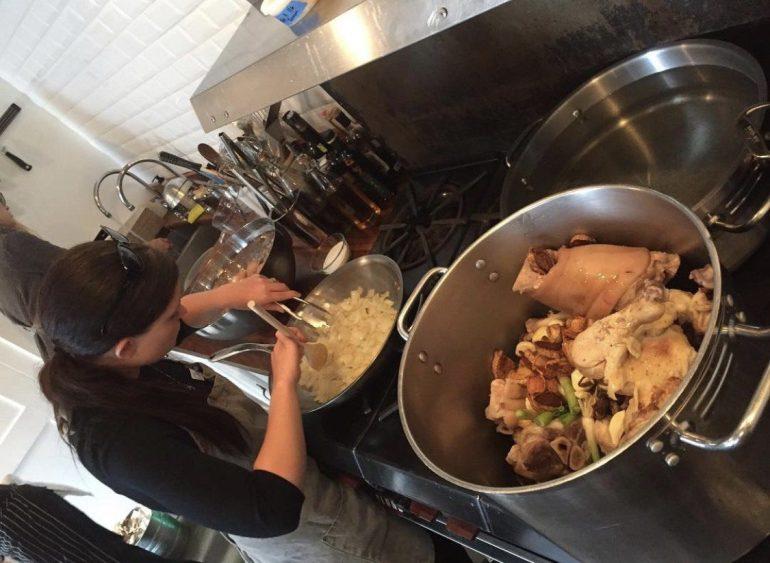 Cooking Ramen at the Pantry in Seattle, Washington
