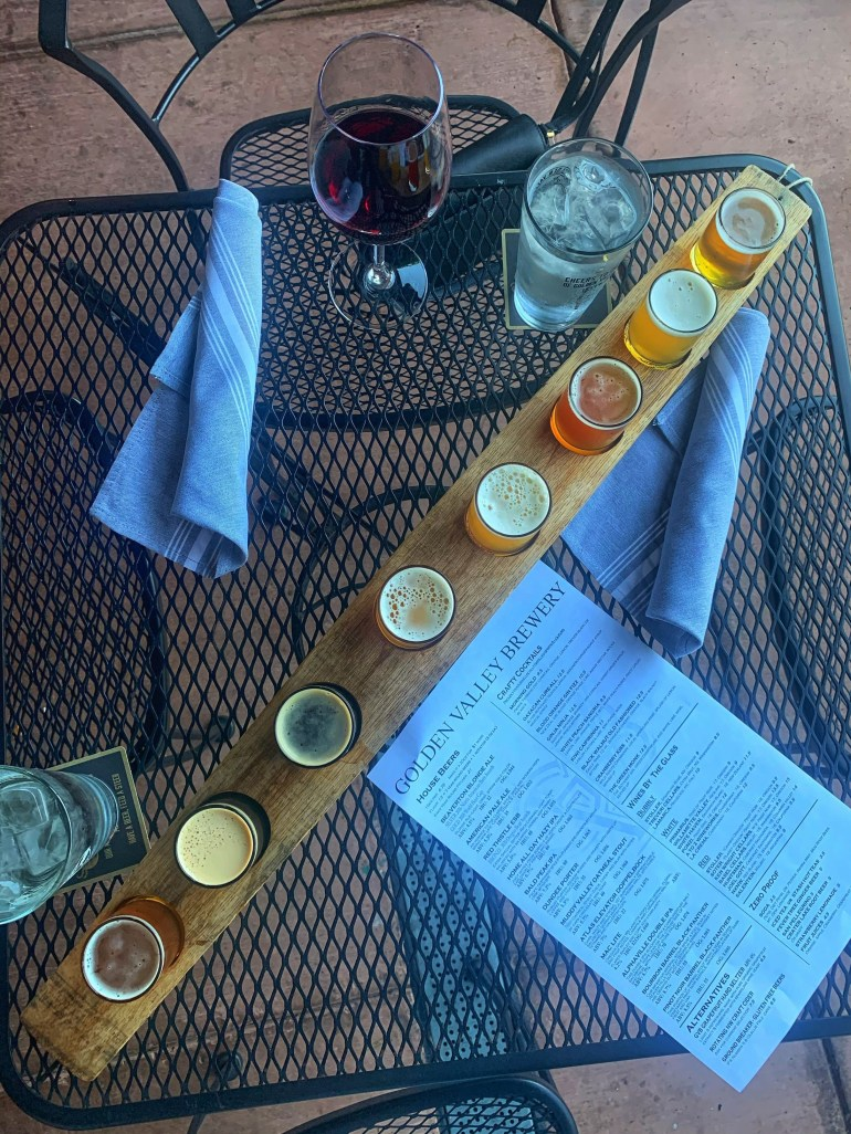 2020 in Review: Outdoor Beer Tasting at Golden Valley Brewery in Beaverton, Oregon