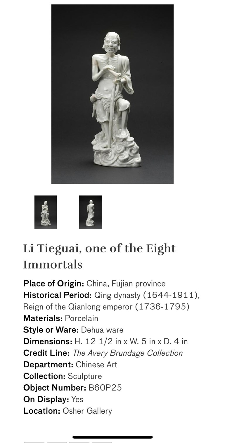 Li Tieguai, One of the Eight Immortals: Touring Art Museums During Covid: Divine Bodies at the Asian Museum of Art in San Francisco
