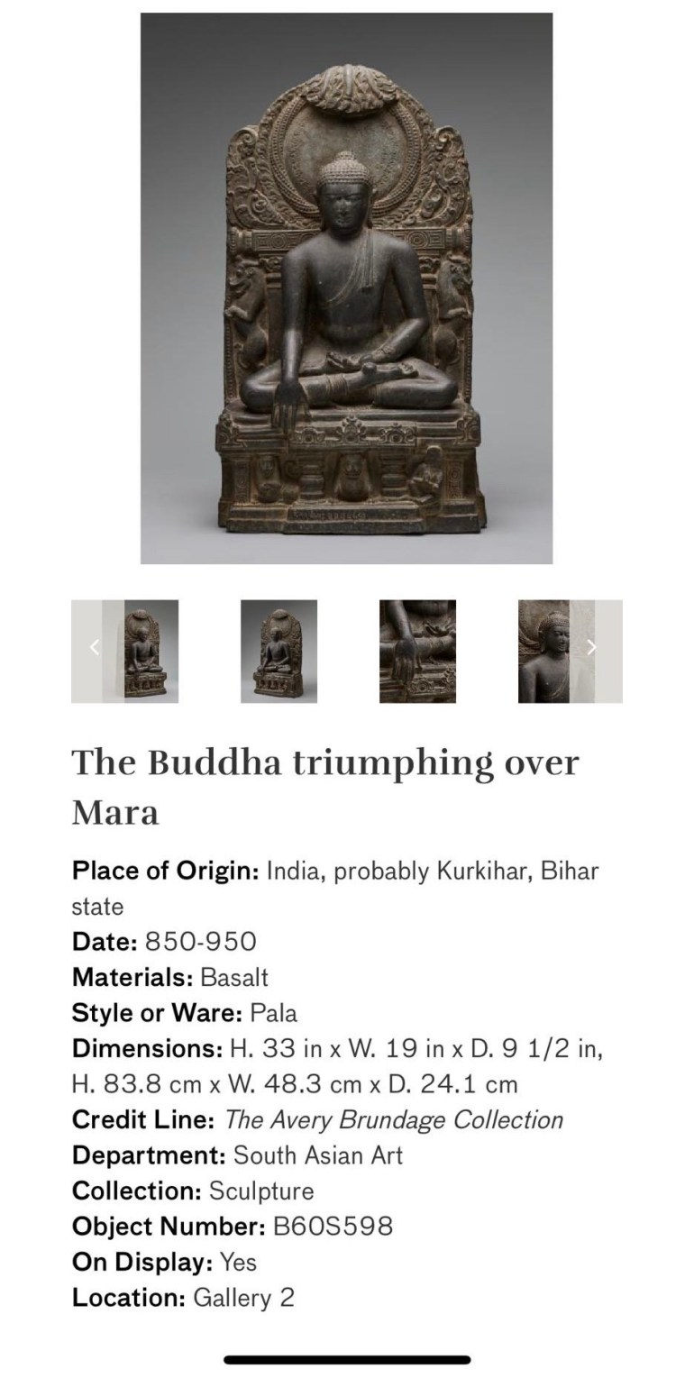The Buddha Triumphing Over Mara: Touring Art Museums During Covid: Asian Art Museum Masterpieces at the Asian Museum of Art in San Francisco
