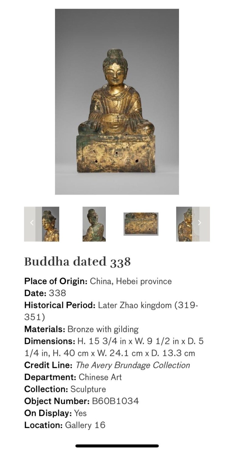 Buddha Dated 338: Touring Art Museums During Covid: Asian Art Museum Masterpieces at the Asian Museum of Art in San Francisco