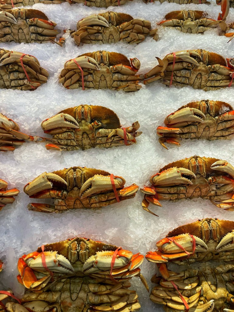 Celebrating Summer with a Crab Dinner--At Pike Place Market in Seattle, WA