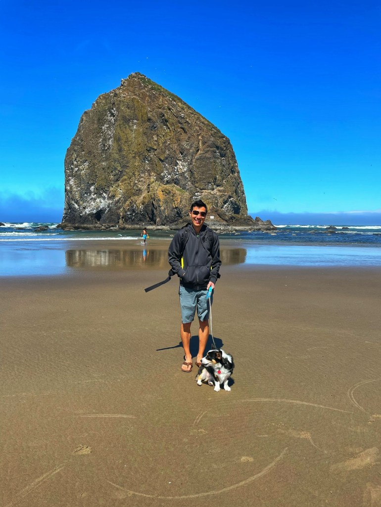 A Not So Stormy Sea: At Canon Beach in Oregon