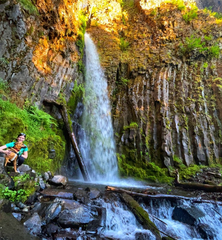 Rico Hikes to Dry Creek Falls in Oregon