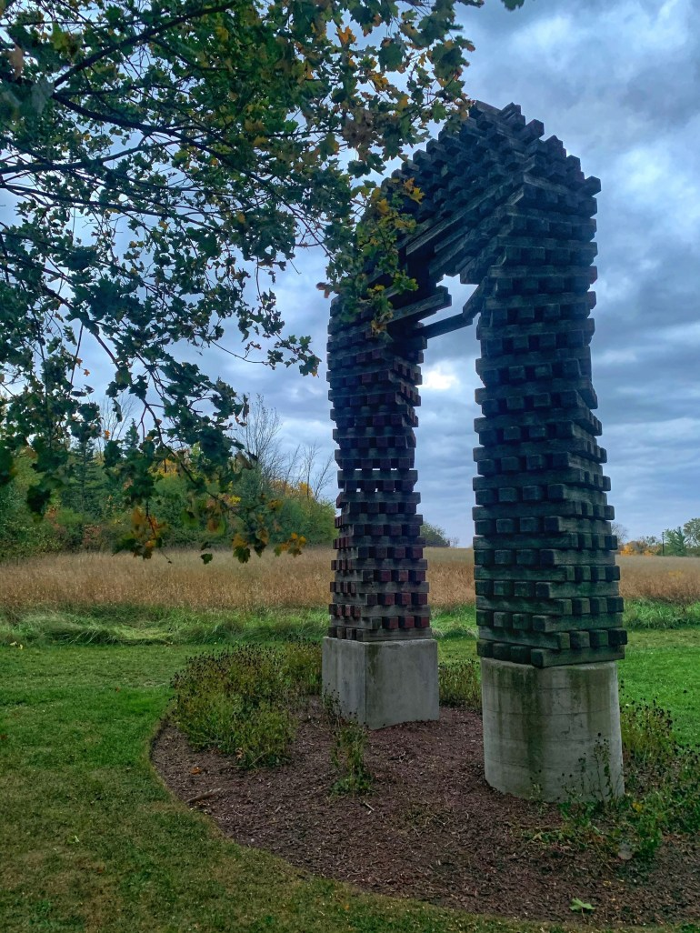 A Fall Evening at the Sculpture Park in Schaumburg, Illinois